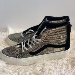 VANS Women's Sk8-Hi Slim Zip Gold Dots